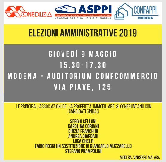 Incontro coi candidati sindaci di Modena